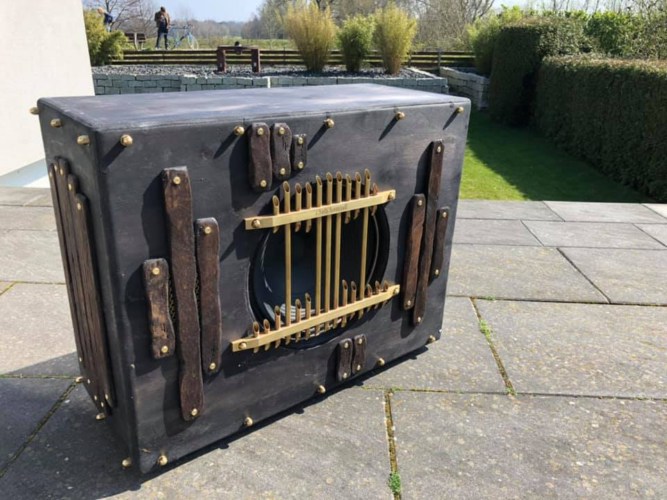 custom steampunk guitar cabinet